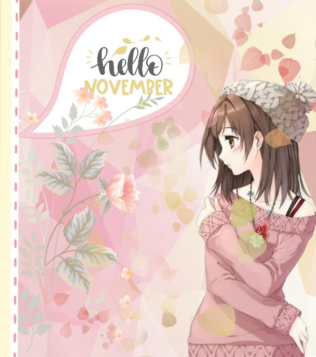 #freetoedit #autumn #november #hellonovember #animegirl #anime