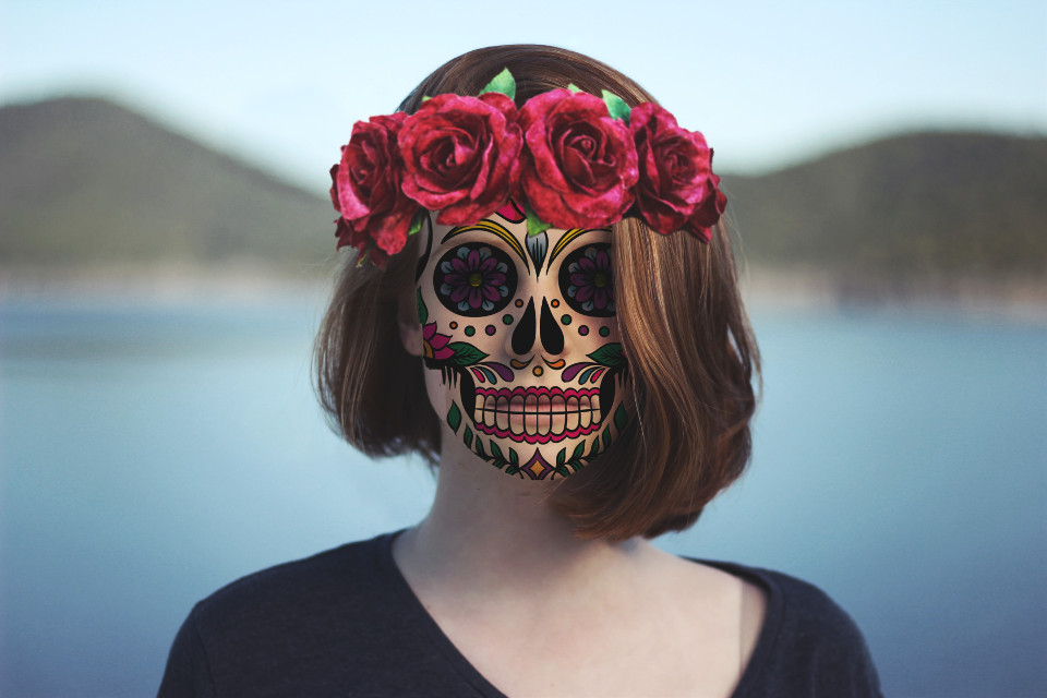 #freetoedit #myedit #people #woman #dayofthedead #november #picsarteffects #ftestickers #pcbeautifulbirthmarks #skull #girl #face