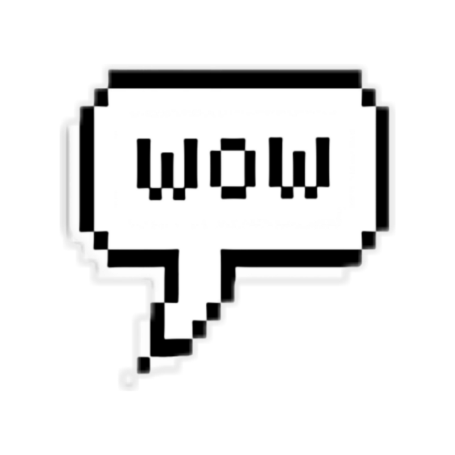 #pixel #blackandwhite #wow #надпись