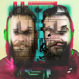 freetoedit 2men 2beards geometric shapes ircmovemberkickoff