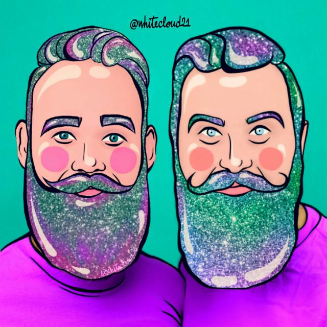 2nd place! 🍭🍥🍬 #ircmovemberkickoff #movemberkickoff #myedit #madewithpicsart #mydrawing #beards #colorful #glitter #toys #creativity @thegaybeards @picsart