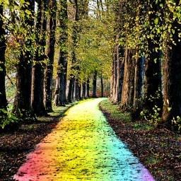freetoedit rainbow autumnleaves