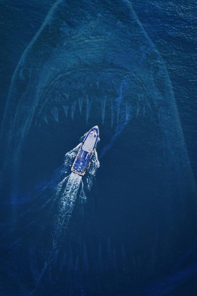 #freetoedit #sea #boat #yacht #shark #picsart #remix #monster pa @freetoedit