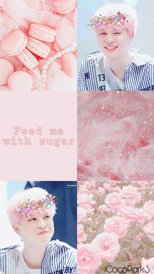 My first edit !  (All the credits are for the owners of the original pictures )  #moodboard #jimin #bts #pink #rose #aesthetic #bts  #sweet #wallpaper #candy