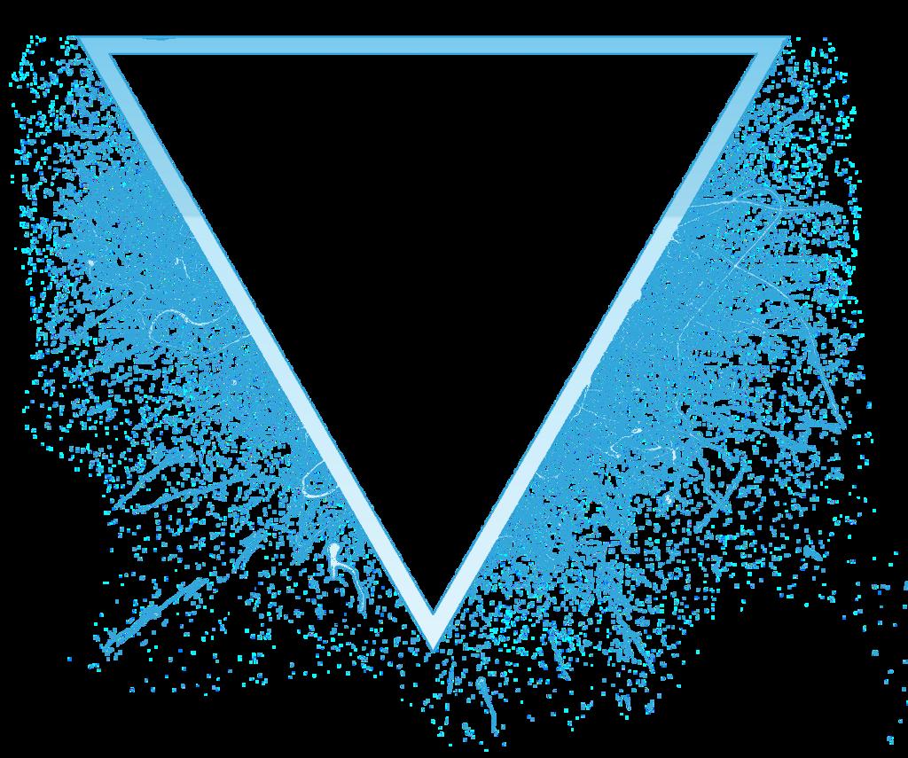 T⃤ R⃤ I⃤ A⃤ N⃤ G⃤ L⃤ E⃤ triangle splash neon glow