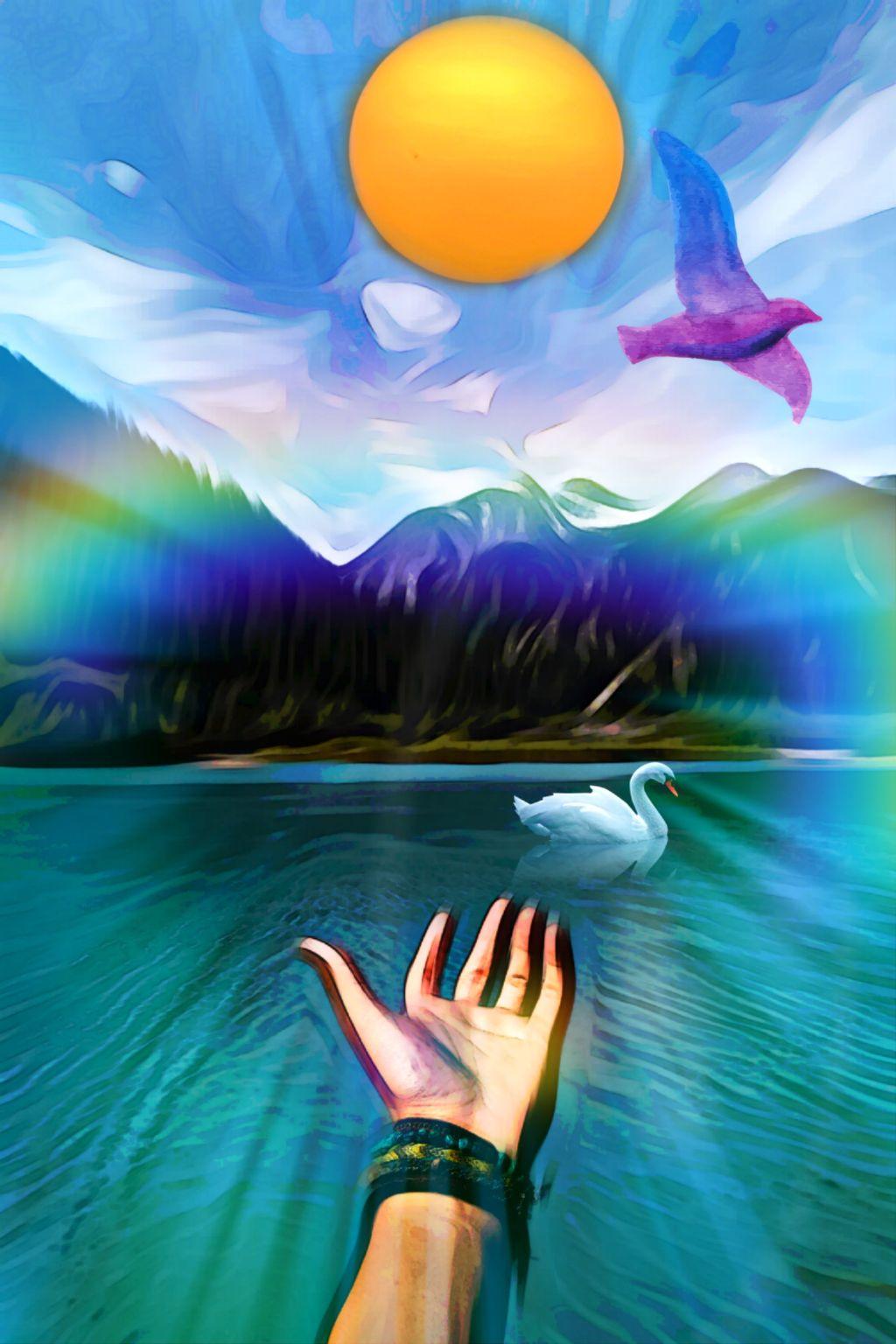 #freetoedit #nature #landscape #oilpaintingeffect #watercoloreffect #masklight  #stickerart #adjusttools #rainbowbrush #myedit #madewithpicsart #irccaptivatinglybeautiful