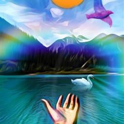 freetoedit nature landscape oilpaintingeffect watercoloreffect irccaptivatinglybeautiful