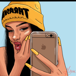 madewithpicsartcolor cartoons yellow trasher glow