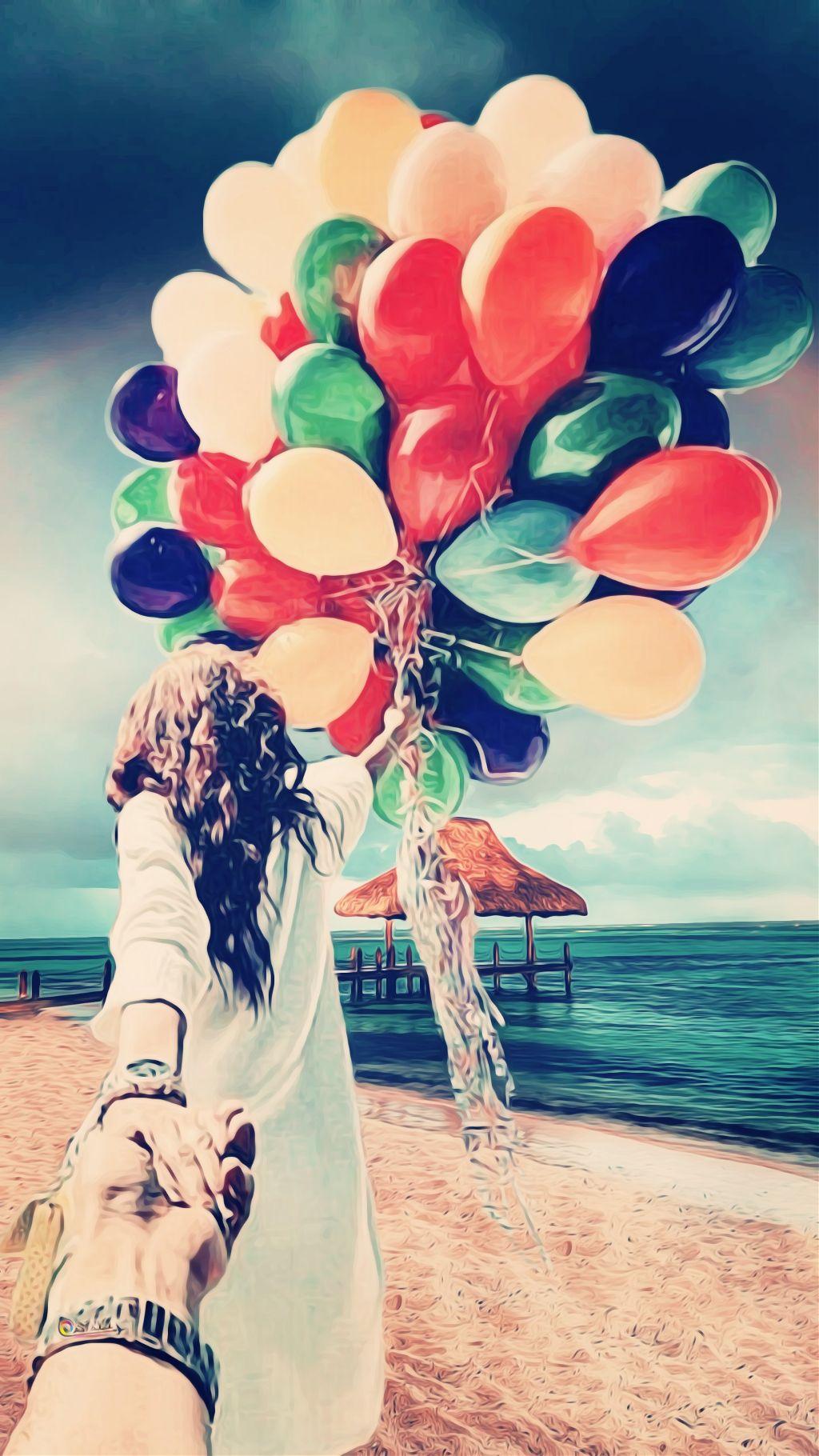 #freetoedit #love #balloons #dear #people #sea #sky #double #hand #girl