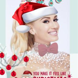 freetoedit gwenstefani christmas festive ecgwenstefanichristmas