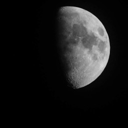 blackandwhite moon