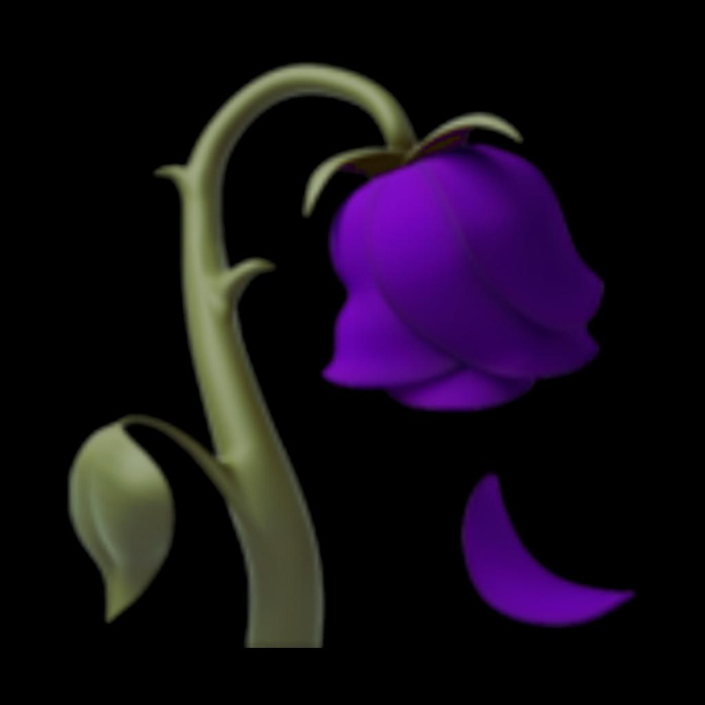 emoji apple fleur flower flora remix freetoedit violet