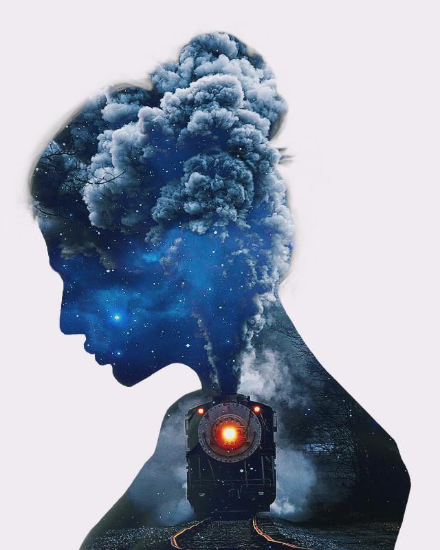#freetoedit #woman #picsarteffects #surrealart #mystic #blue #surreal