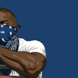 rap rapper otgenasis blue digitalart