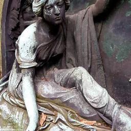 gravesite grave cemetery tombstone artdeco