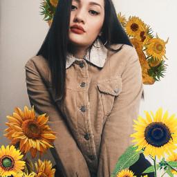 freetoedit girl sunflower flower srcfineartfriday