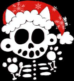 zanoskull skeleton cat christmas happyholidays freetoedit