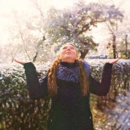 freetoedit snow winter girl