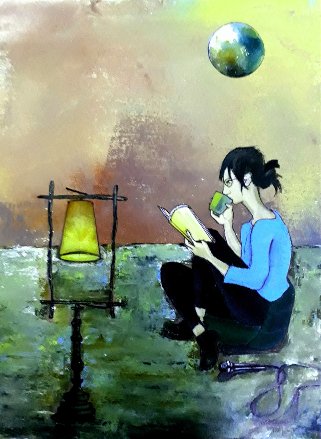 "#freetoedit  Aisa bhi hota he...? Acrylic on canvas  12""16"""