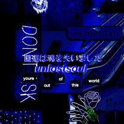 freetoedit blue aesthetic darkblue dark