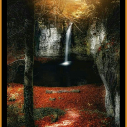 waterfall landscape forest