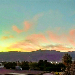 freetoedit sunsetsky farwest rooftopview mountains