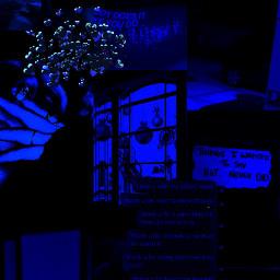 freetoedit kpop blue aesthetic darkblue