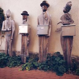 freetoedit mailboxes wooden sculptures weird