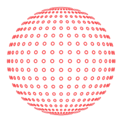 sphere ornament dots spherical pattern