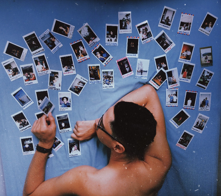 #freetoedit #man #handsome #retro #vintage #polaroid #fujifilm #bed #photographer