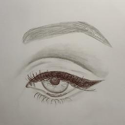 drawing art eye eyeart jealous