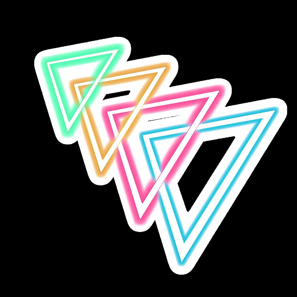 T⃤ R⃤ I⃤ A⃤ N⃤ G⃤ L⃤ E⃤ triangle neon geometric mini