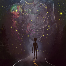 freetoedit galaxy astronaut way space alien universe