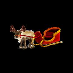 ftestickers deer sled christmas freetoedit