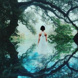 freetoedit mirrored suneffect mystic forest