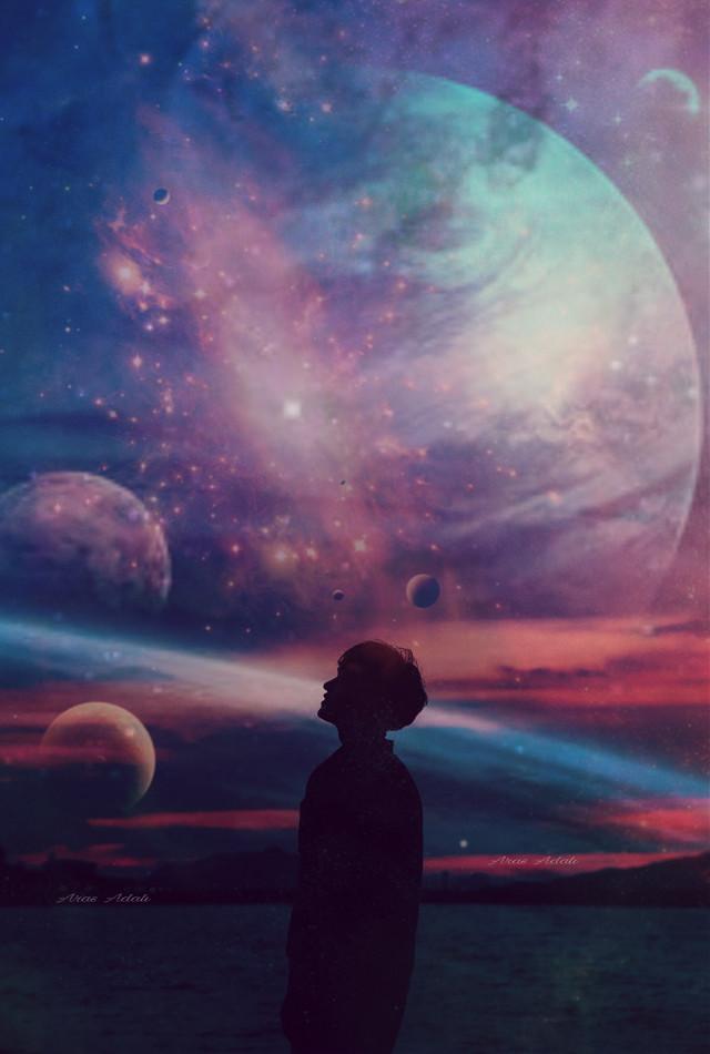 #freetoedit @pa @freetoedit #galaxy #planets #night #stars #universe #planet #picsart #remix