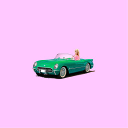 freetoedit barbiegirl barbie car green