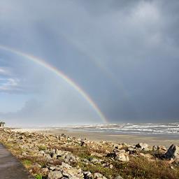 freetoedit pctheworldaroundme naturephotography rainbow rainclouds