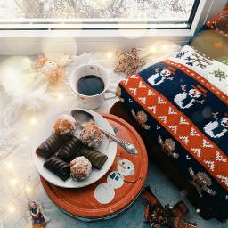 winter flatlay holidays picsart