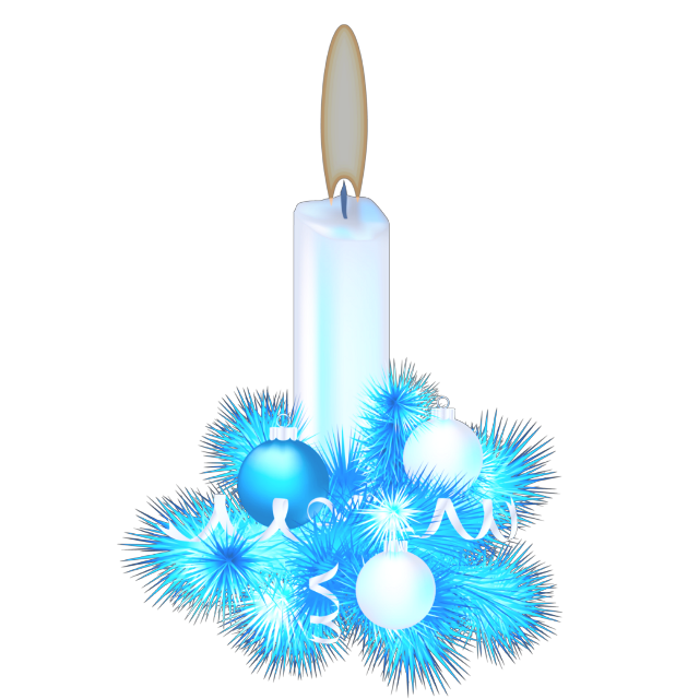 #ftestickers #christmas #decoration #candles #blue