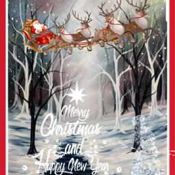 freetoedit happyholiday merrychistmas santaclause reindeers