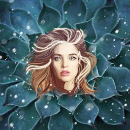 freetoedit girl edit flower plant