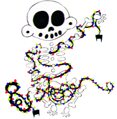 zanoskull skeleton skull bones christmas freetoedit