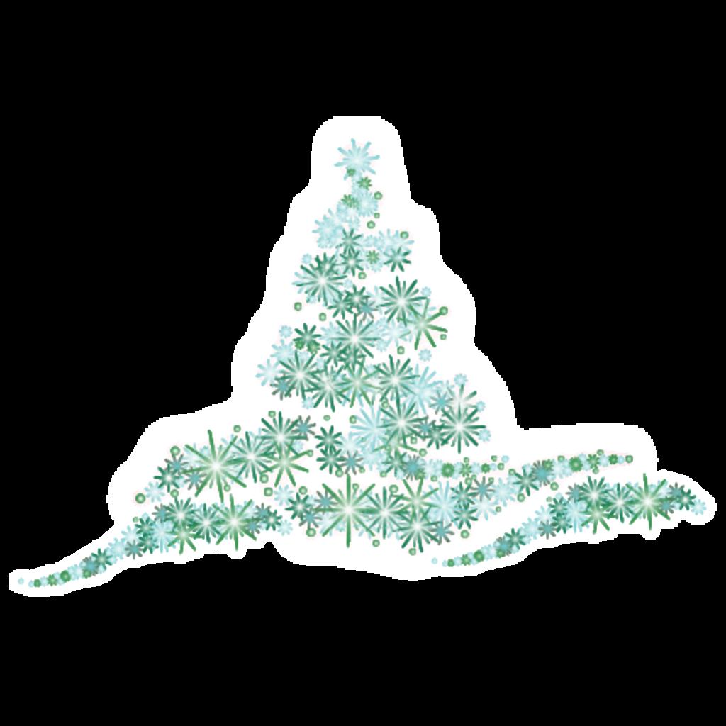 #ftestickers #christmas #tree #luminous #glowing #green