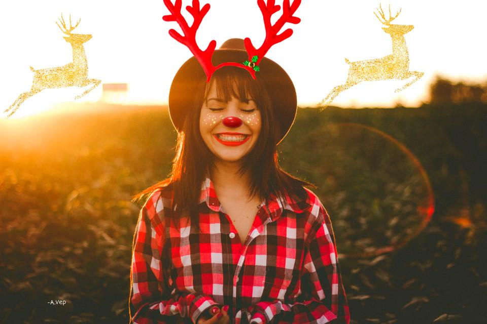 #freetoedit #beautiful #girl #merrychristmas