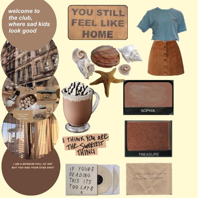 Hope you like it! #freetoedit #aesthetic #brown