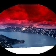 ftestickers landscape crater lake redsky