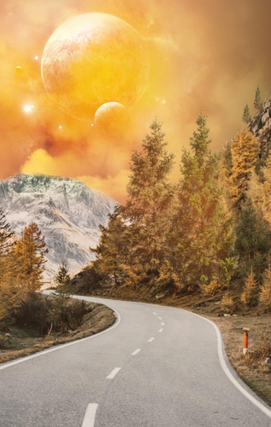 #freetoedit @pa @freetoedit @macmmaya #landscape #road #mountain #galaxy #sky