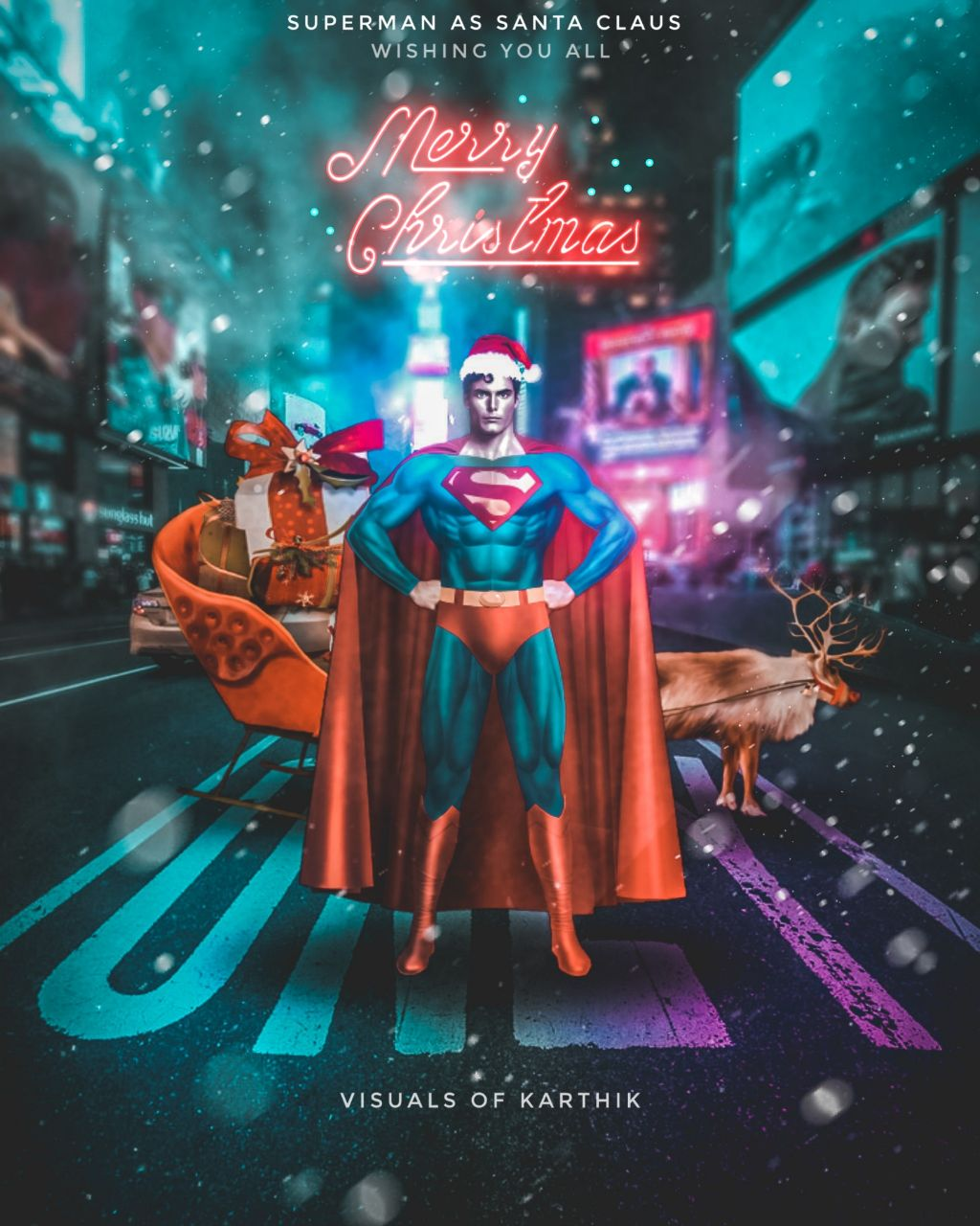"•Celebrate this Christmas with ""Super Santa"" 🎅• ""SuperMan as Santa claus"" 🎄🎇🎆🎉🎅 Merry Christmas everyone have a Great Holiday   Please Subscribe my YouTube channel for edit tutorials  Link : https://www.youtube.com/Visualsofkarthik  #Instagram 👉🏻 @imkarthik1997  #Madewithpicsart #madebyme #MyEdit #PicsArt  #merrychristmas #merryxmas #christmas #xmas #santaclaus #santaoutfit #superman #superhero #superheroes #dc #warnerbros #photography #Photo #photooftheday #photomanipulation #picoftheday #picsartedit #remixedwithpicsart #dailyinspiration #dailyremix #dailytag #dailysticker #dailystickerremix #dailyremixchallenge #festival #festive #light #neon #neonlightsremix #neonlights #ledlights #deerremix #picsartedit #monday #mondaymotivation #lightroom #amazing #interesting"