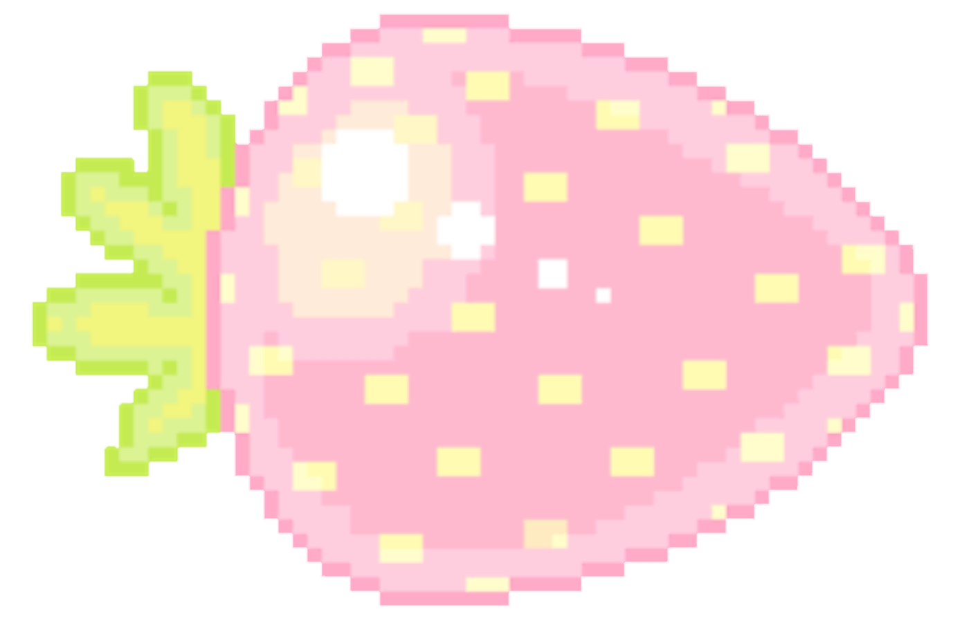 Pixel Pixelart Cute Pink Strawberry Aesthetic Kawaii